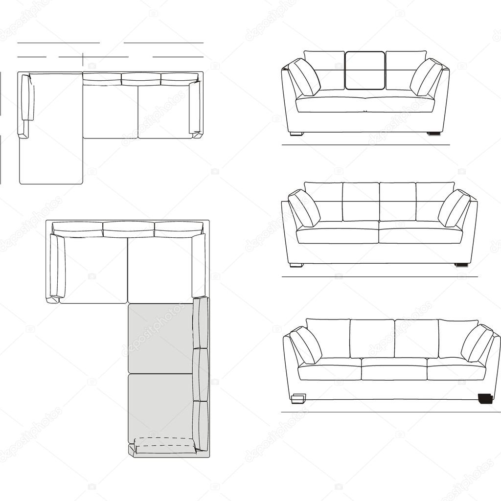 Outline Illustration Of The Couch Stock Vector Andaleks3 92461862