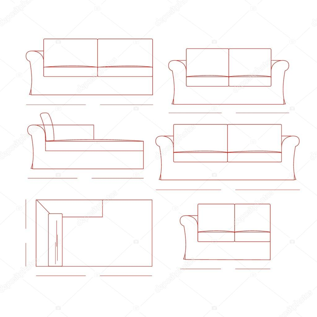 Outline Illustration Of The Couch Stock Vector Andaleks3 92462334