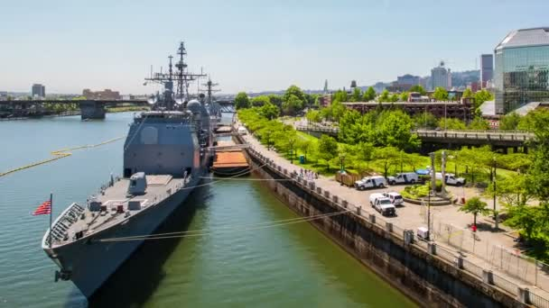 lodě v mola v přístavu portland