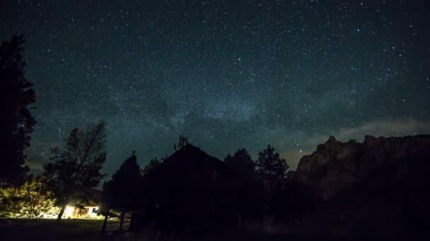 Smith Rocks with Night Stars