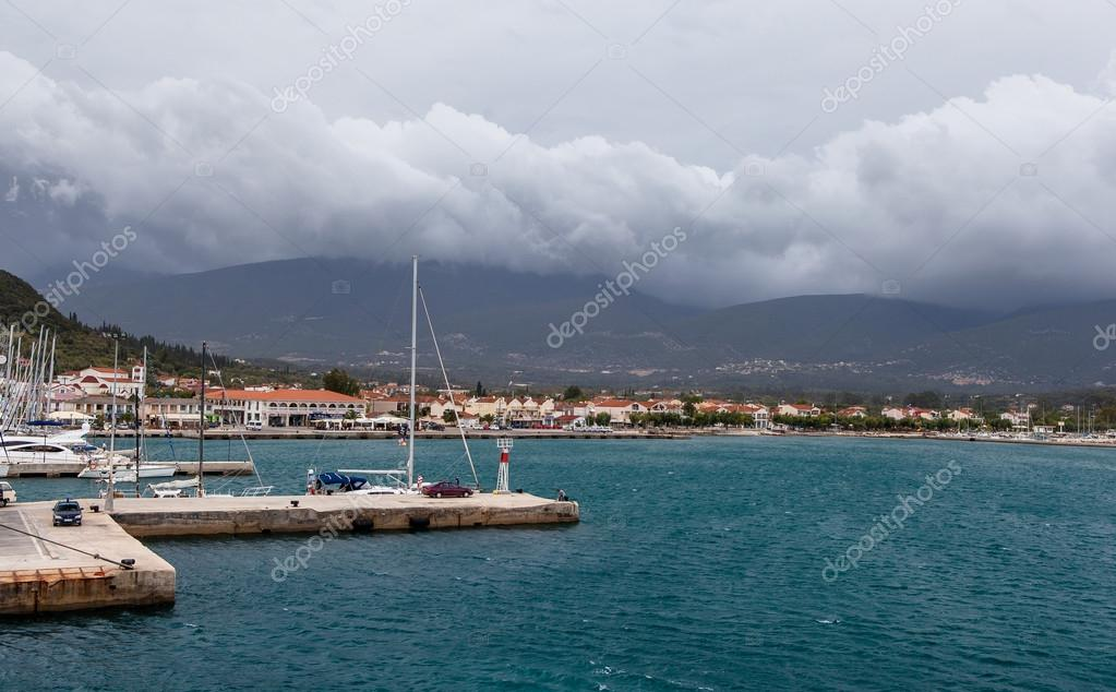seascape in overcast weather in Greece