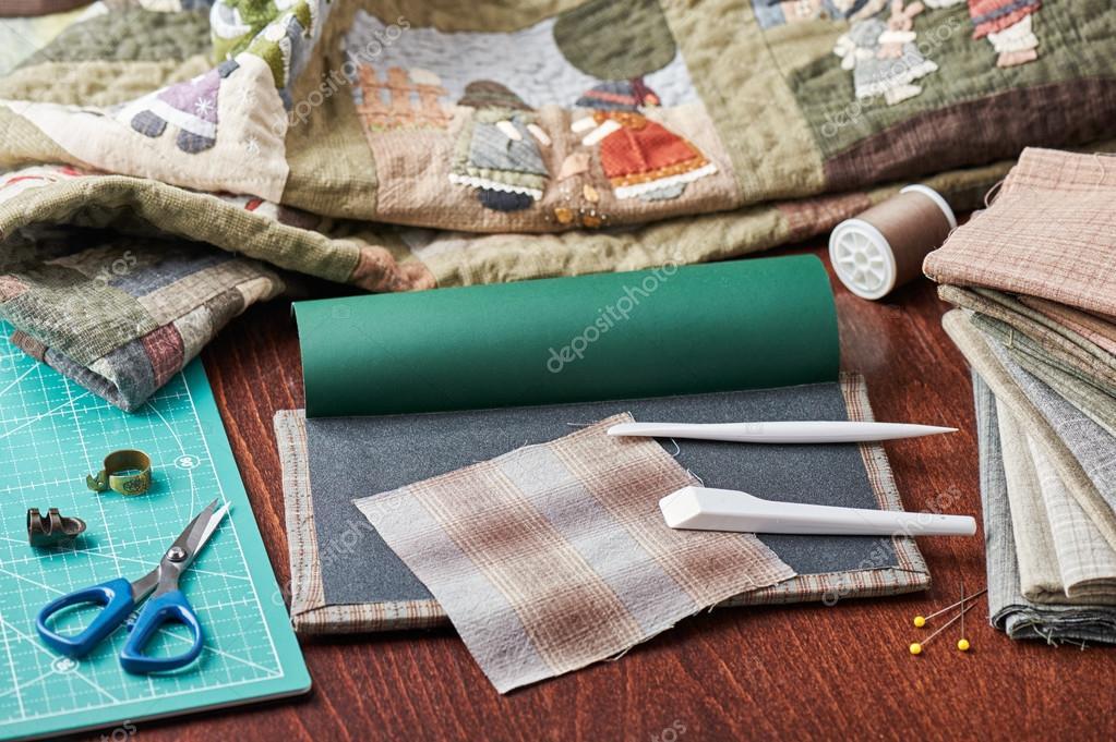 Tools for quilt applique u2014 stock photo © maxcab #73147693