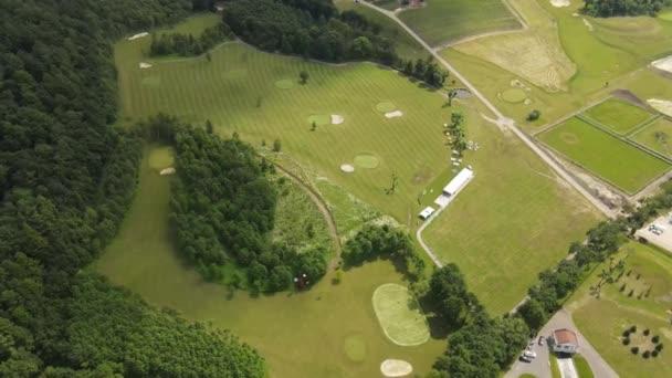 Luftaufnahme des Golfplatzes
