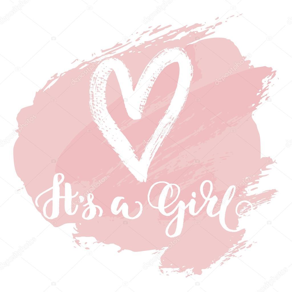 it s girl card stock vector barkarola 114468508
