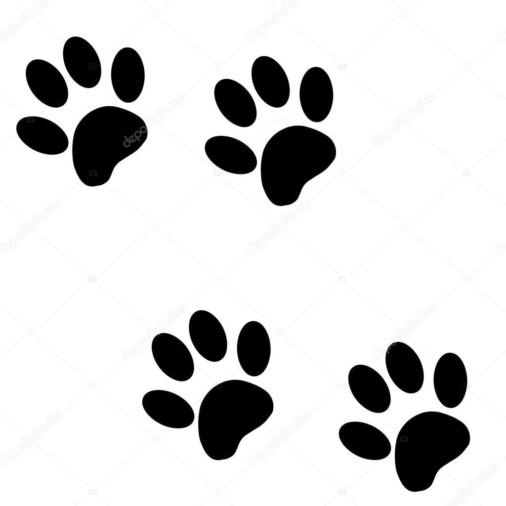 pata de c u00e3o de silhueta vector vetor de stock dog paw vector image dog paw vector graphic