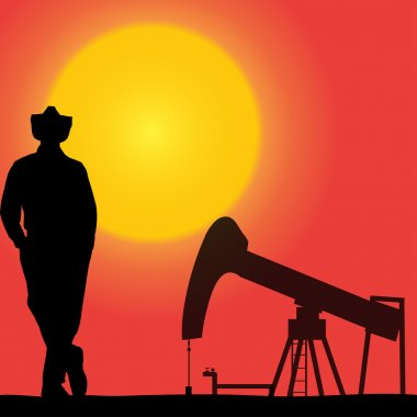 Vector silhouette of a worker.
