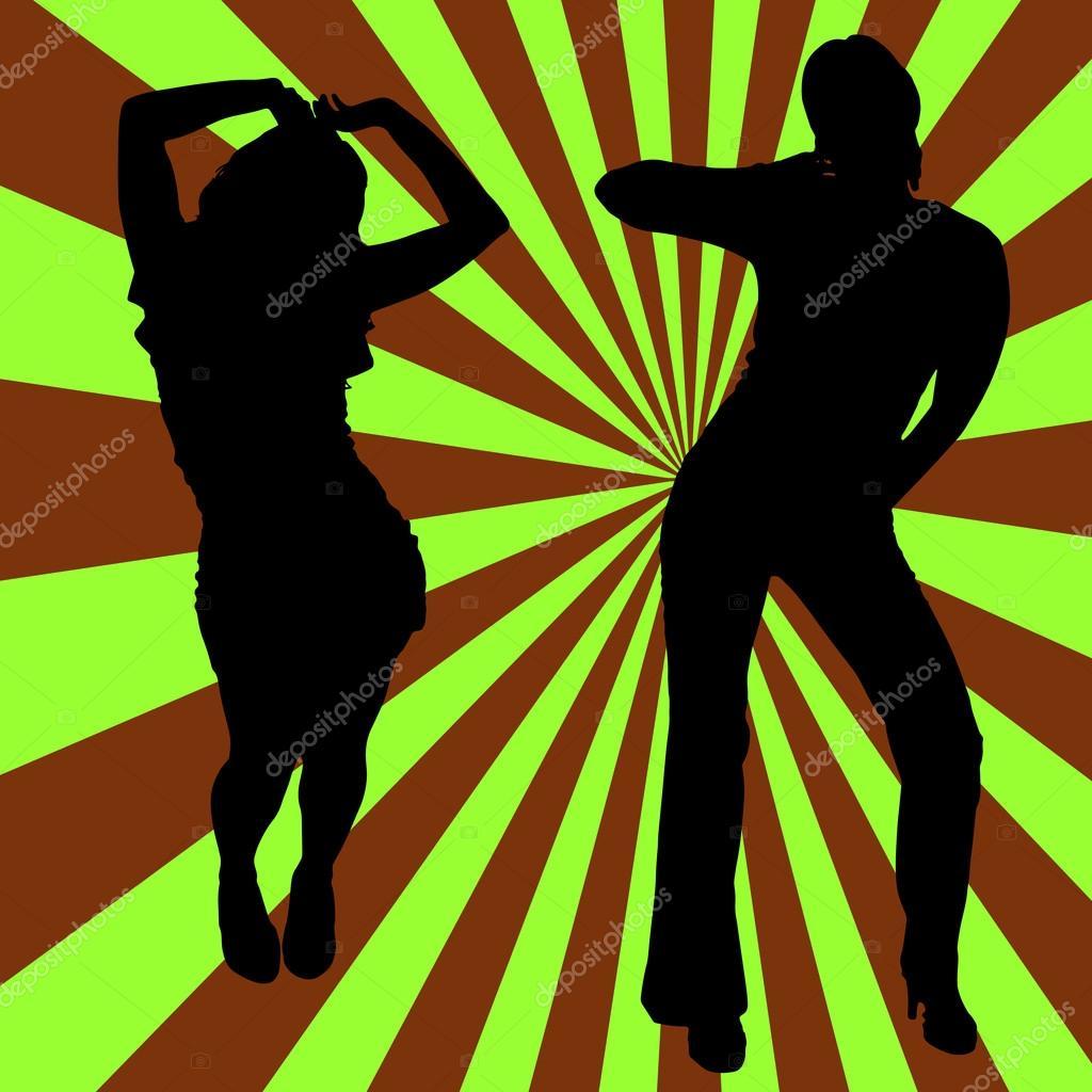 Silhouette women dancing
