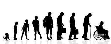 Silhouette generation men.