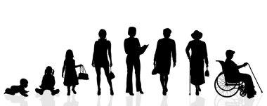 Silhouette generation women.