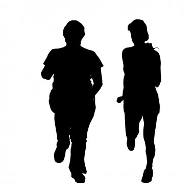Silhouette of a couple.