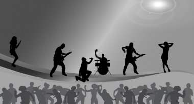 Music band on stage.