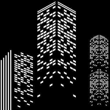Building with illuminated windows
