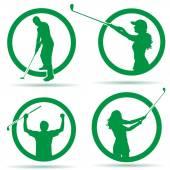 Fotografie Silhouetten des Golf-Logos