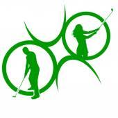Silhouette des Golf-Logos