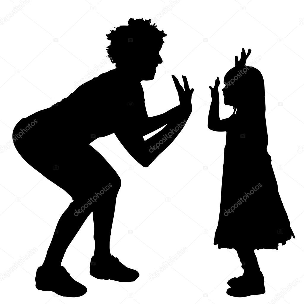Imágenes Siluetas De Mamas Silueta De Madre E Hija Vector De