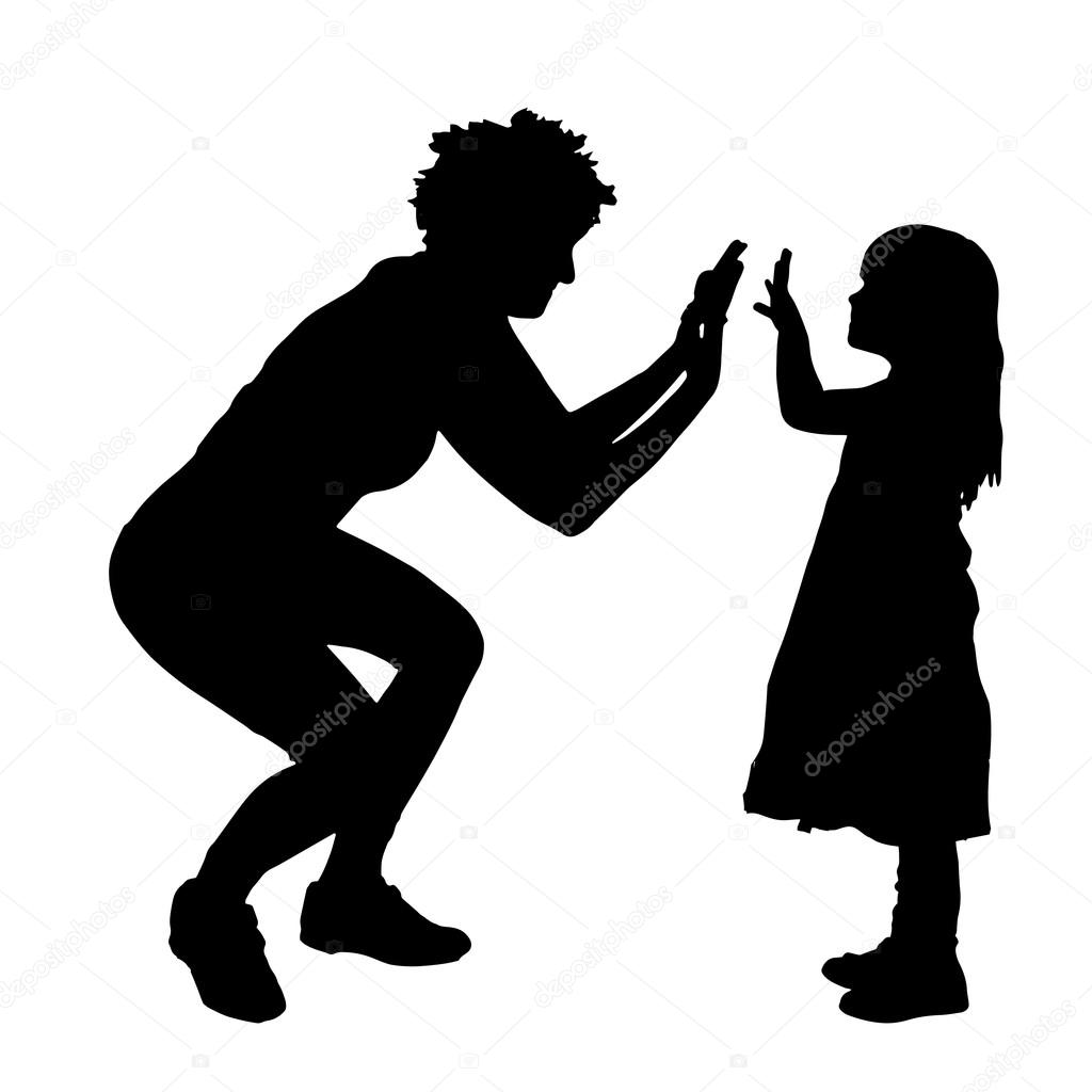 Silueta De Madre E Hija Vector De Stock Majivecka 79736738