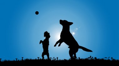 black silhouette of dogs