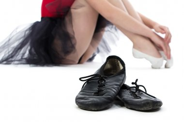 Image of ballet shoes on the floor