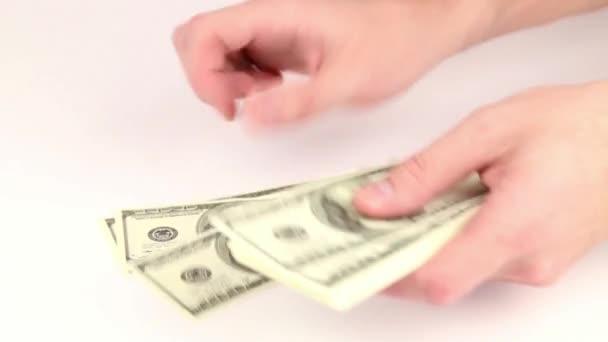 Počítání peněz - dolary
