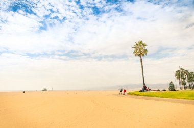 Venice Beach in a bright sunny day - World famous place near Santa Monica - Atlantic seaside in Los Angeles territory