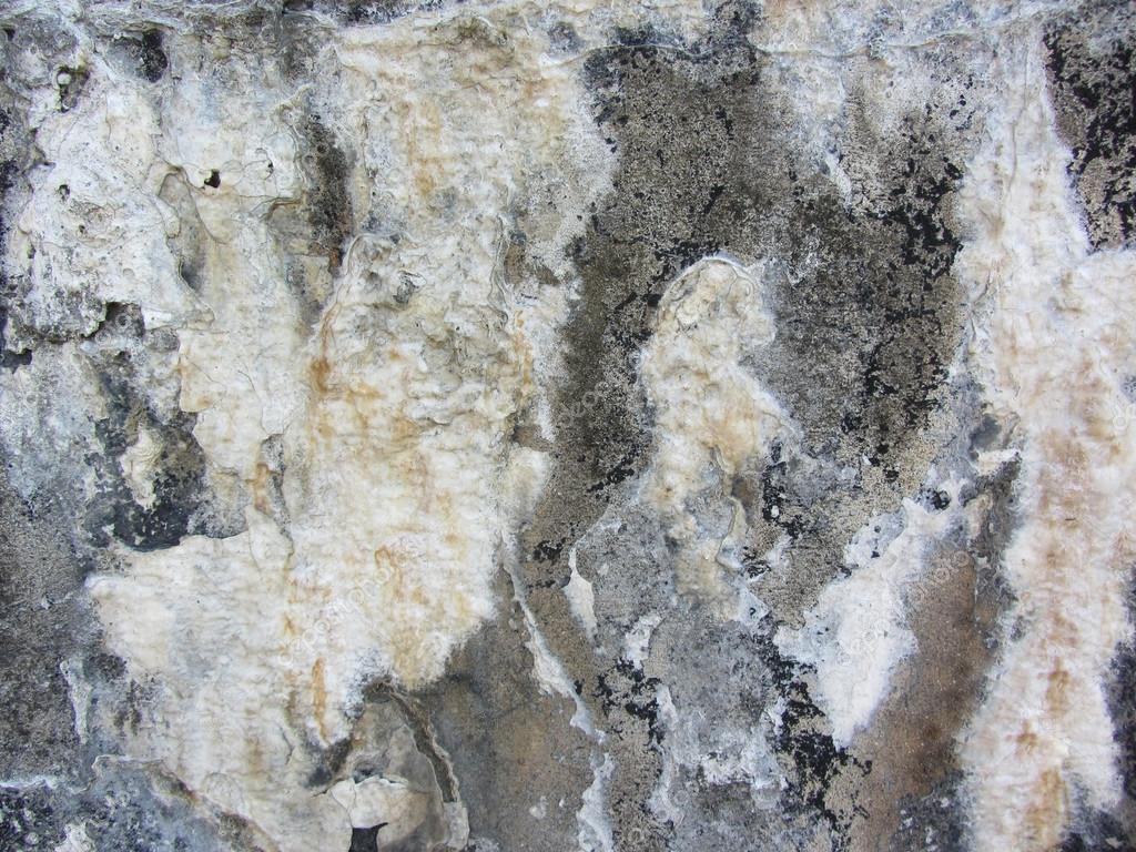 Rock Wall with Calcium Water Deposits — Stock Photo © kathyclark ...