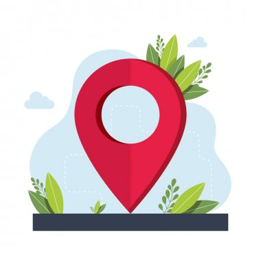 Geolocation symbol. GPS navigation service application. maps, get directions metaphors. Vector isolated concept metaphor illustrations. Get directions abstract concept. Vector illustration icon