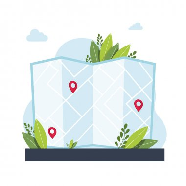 GPS navigation service application. maps, get directions metaphors. Vector isolated concept metaphor illustrations. Get directions abstract concept. Vector illustration icon
