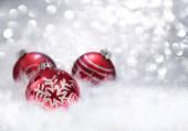 Vánoční ozdoby šusťové kuličky červené
