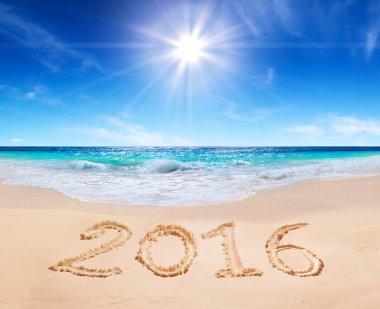 written 2016 on the beach