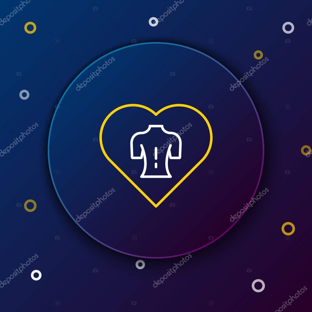 Line Massage icon isolated on blue background icon