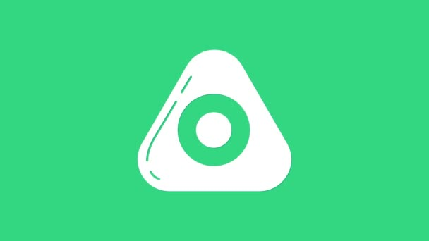 White Sewing chalk icon isolated on green background. 4K Video motion graphic animation
