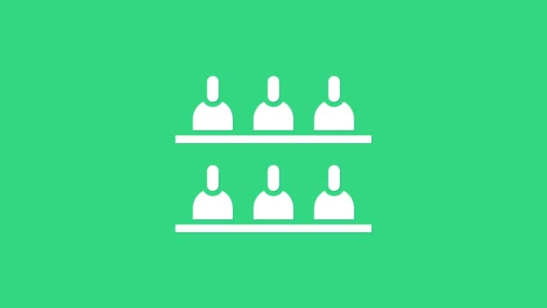 White Jurors icon isolated on green background. 4K Video motion graphic animation