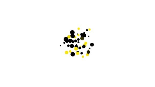 Schwarzes Faxgerät-Symbol auf weißem Hintergrund. Bürotelefon. 4K Video Motion Grafik Animation