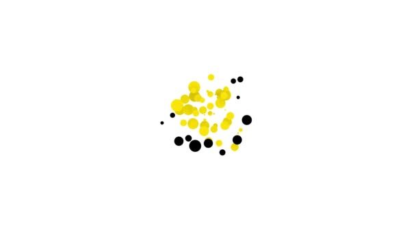 Černá podkova se čtyřmi listy jetele ikony izolované na bílém pozadí. Šťastný den svatého Patricka. Grafická animace pohybu videa 4K