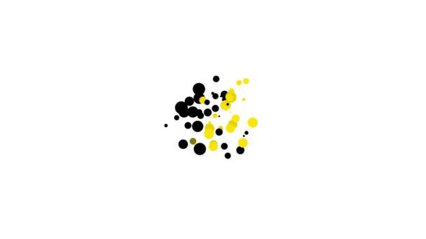 Černá Zlatá mince se čtyřmi listy jetele ikona izolované na bílém pozadí. Šťastný den svatého Patricka. Grafická animace pohybu videa 4K