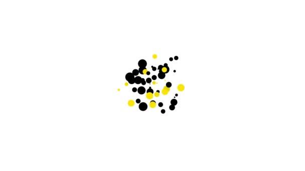 Černý Leprechaun klobouk a čtyři listy jetel ikona izolované na bílém pozadí. Šťastný den svatého Patricka. Grafická animace pohybu videa 4K
