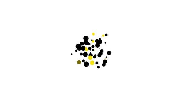 Black Saint Patricks den s ikonou kalendáře izolované na bílém pozadí. Čtyřlístek jetele. Datum 17. března. Grafická animace pohybu videa 4K