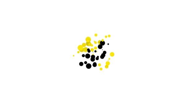 Schwarze Friedenstaube mit Olivenzweig-Symbol auf weißem Hintergrund. Frohe Ostern. 4K Video Motion Grafik Animation