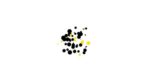 Black Global Technologie oder soziales Netzwerk Symbol isoliert auf weißem Hintergrund. 4K Video Motion Grafik Animation