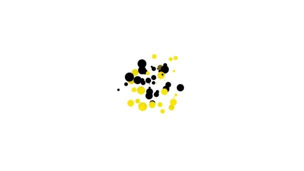 Black Cake on Teller Symbol isoliert auf weißem Hintergrund. Alles Gute zum Geburtstag. 4K Video Motion Grafik Animation