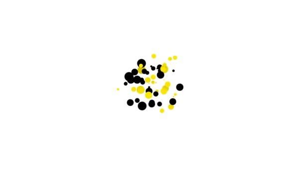 Black Cake Symbol isoliert auf weißem Hintergrund. Alles Gute zum Geburtstag. 4K Video Motion Grafik Animation