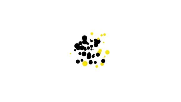 Fekete Nagy palack tiszta víz ikon elszigetelt fehér háttér. Műanyag tartály a hűtőtáskához. 4K Videó mozgás grafikus animáció