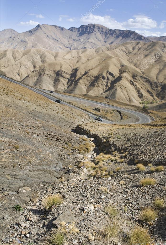 Tizi-n-tichka curves road, Morocco