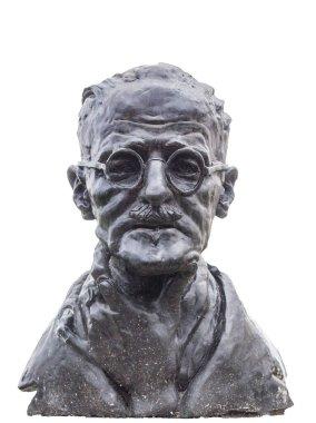 James Joyce bust. Sculpted by Marjorie Fitzgibbon. St Stephen Green, Dublin, Ireland