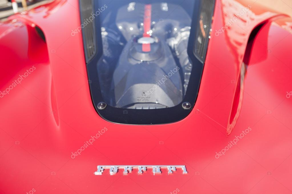 Ferrari back engine window \u2013 Stock Editorial Photo