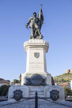 Statue of Hernan Cortes, Medellin, Spain