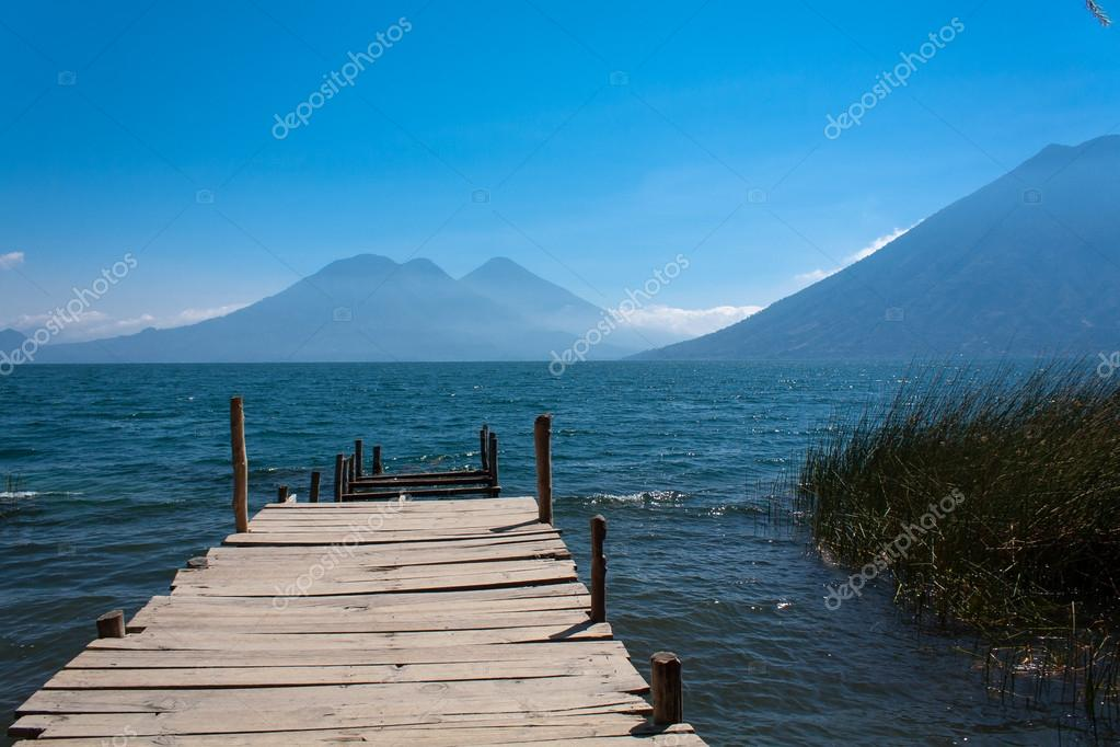 Lake Atitlan wooden pathway near San Marcos La Laguna