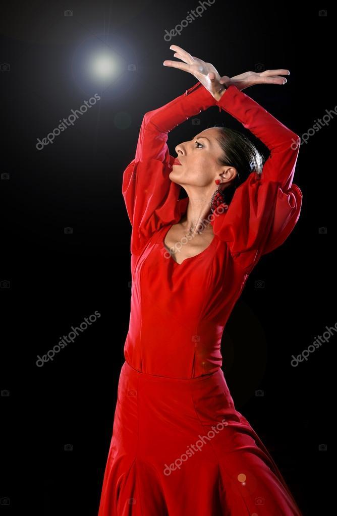 Испанка платье красное