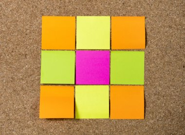 Blank Resolutions Post it notes with copy space