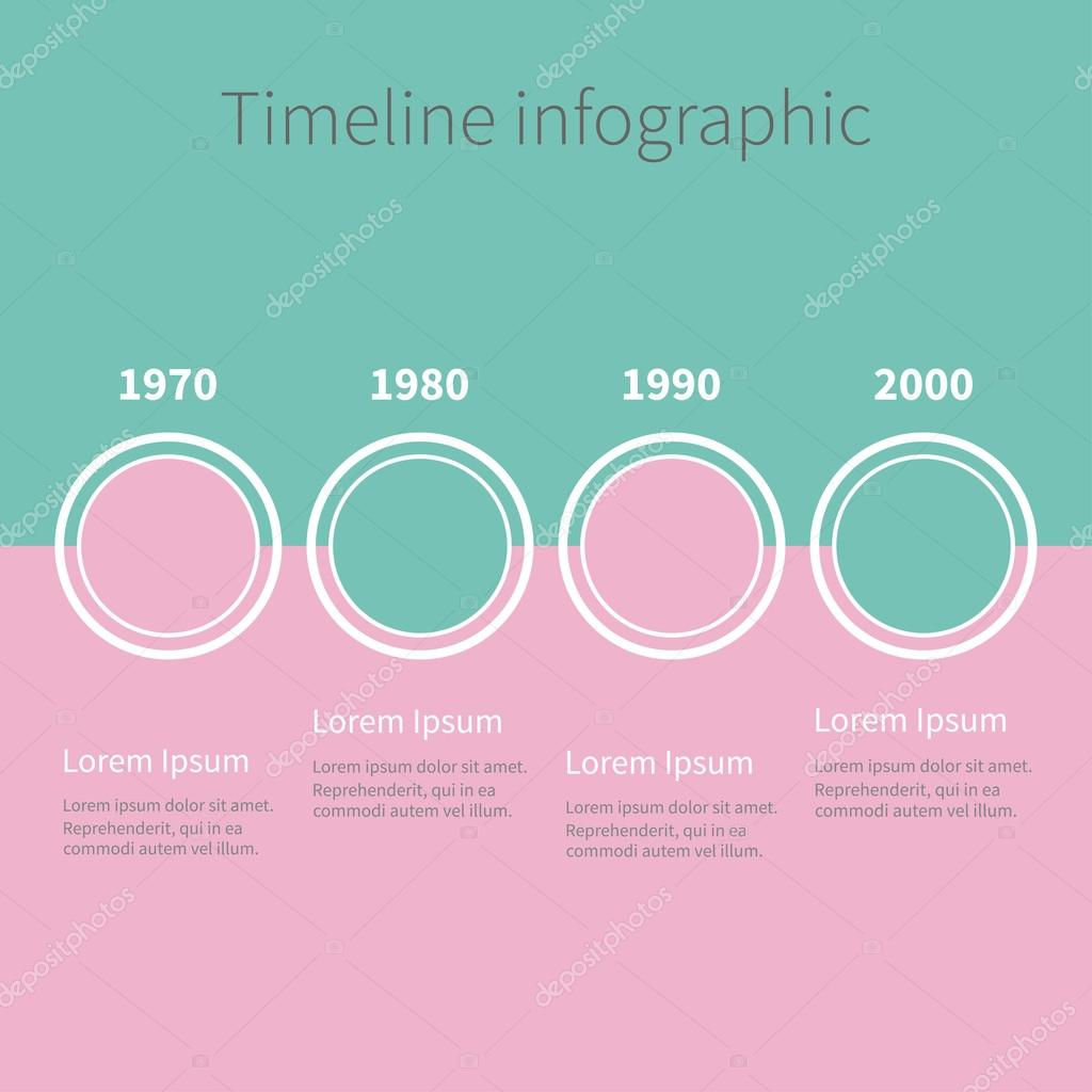 Timeline Infographic Template Stock Vector Worldofvector - Timeline infographic template